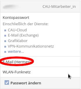 Passwort-Änderung für alle Dienste