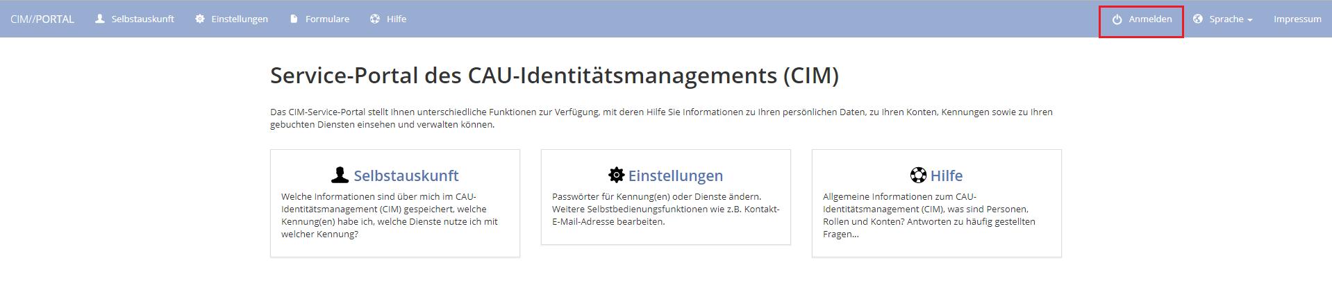 Bild: CIM-Startseite