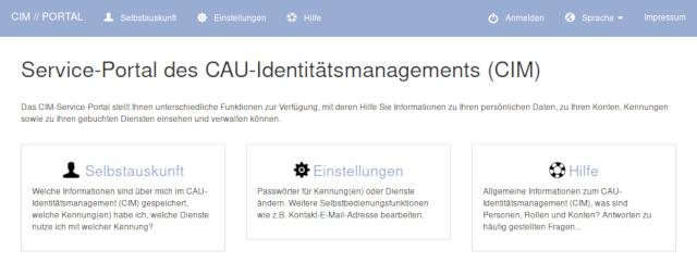 CIM Service Portal