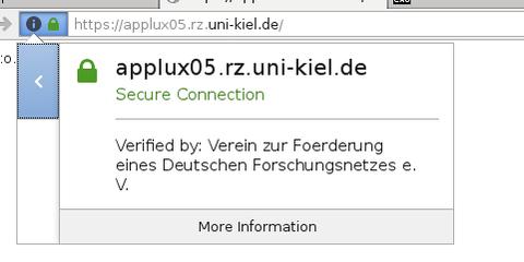 Firefox, neues Zertifikat: herausgegeben durch DFN-Verein