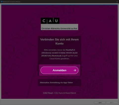 Desktop-Client Verbindung mit Cloud-Instanz