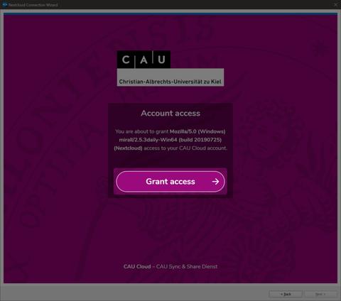 Nach erfolgreicher Authentifizierung muss der Zugang für diesen Client noch erlaubt werden