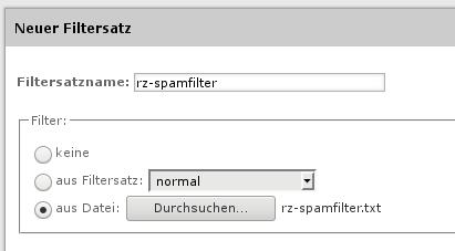 Upload Spamfilter
