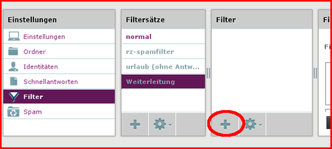 Filterregel erstellen
