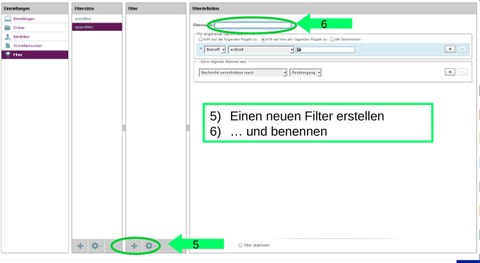 Roundcube: neue Filterregel