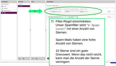 Filter-Regel: X-Spam-Level Kopfzeile