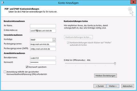 Mailserver-Konfiguration