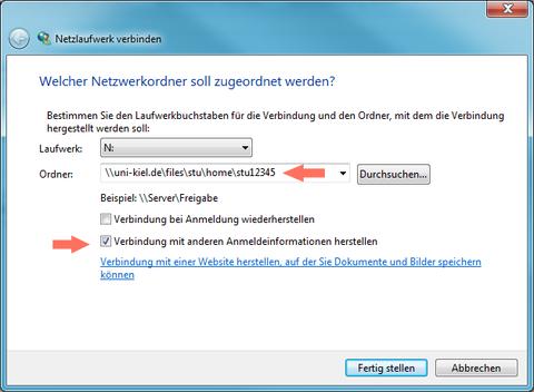Netzwerklaufwerk Windows